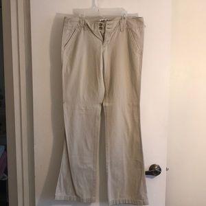 Khaki pants, American eagle size 6 long.